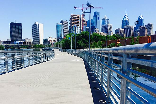 Schuylkill River Trail Boardwalk Skyline