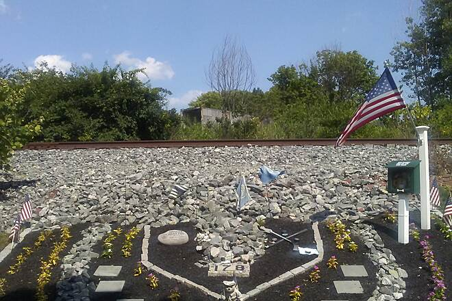 Schuylkill River Trail Schuylkill River Trail This memorial commemorates a police officer who was killed in the line of duty in nearby Plymouth Meeting back in 2013. It can be found between the trail and RR track just south of the PA Turnpike bridge.