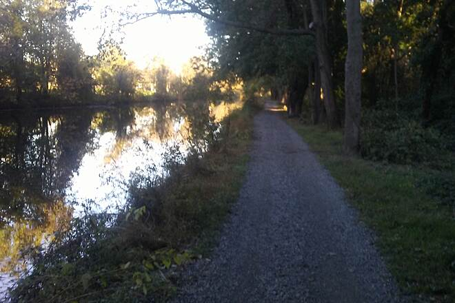 Schuylkill River Trail Schuylkill River Trail The newest segment of trail closely parallels the old canal near Port Providence. Taken Oct. 2017.