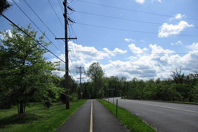 Schuylkill River Trail Schuylkill River Trail Along the newest (as of the spring 2019) segment of the trail paralleling Industrial Highway on the east end of Pottstown.