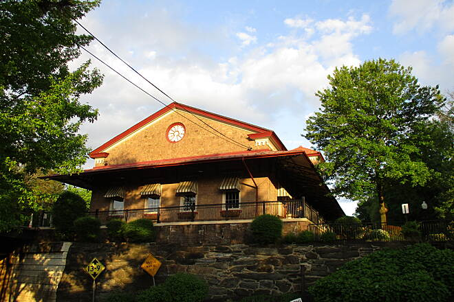 Schuylkill River Trail Schuylkill River Trail The old Phoenixville train station, as seen across Route 29 from the trail on the east side of town.