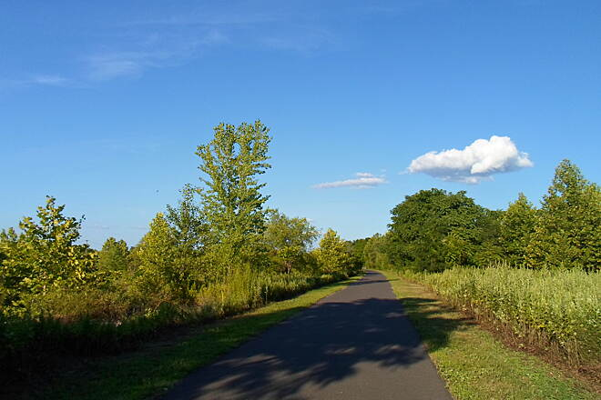 Schuylkill River Trail Thun Trail Sunny summer skies on the trail west of Pottstown. Taken July 2014.