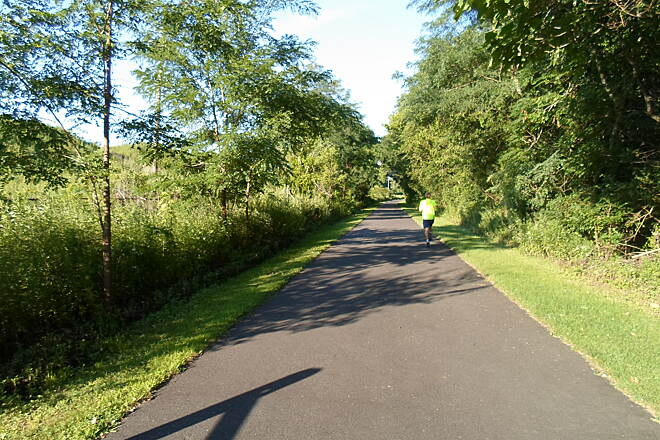 Schuylkill River Trail Thun Trail Jogger on the section outside Pottstown. Taken July 2014.