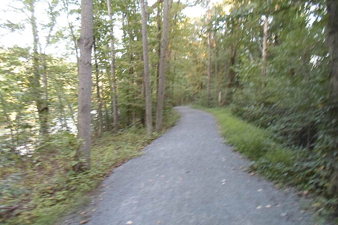 Schuylkill River Trail Bartram Trail Paralleling the Schuylkill River (left) southeast toward Hamburg. Taken August 2014.
