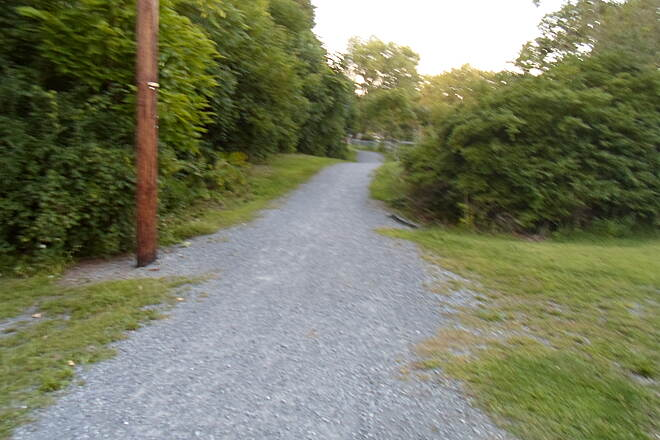 Schuylkill River Trail Bartram Trail Looking north on the branch path that connects the trail to Hamburg Borough Park. Taken Aug. 2014.