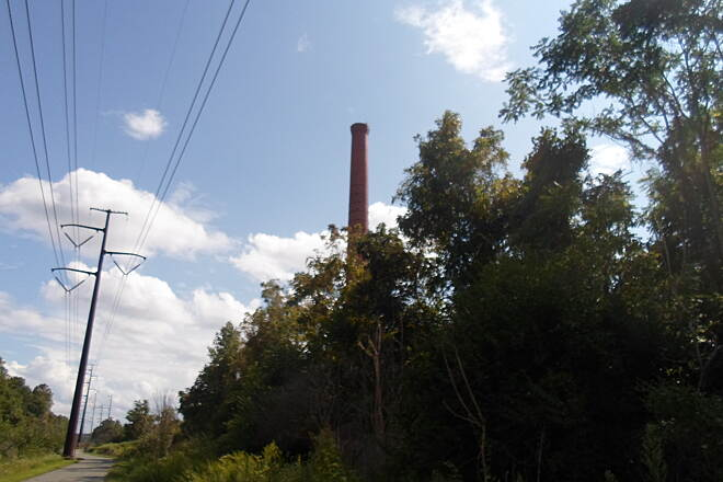 Schuylkill River Trail Schuylkill River Trail This smokestack, which was once part of a now-abandoned factory on Spring City's north end, is still a prominent landmark.