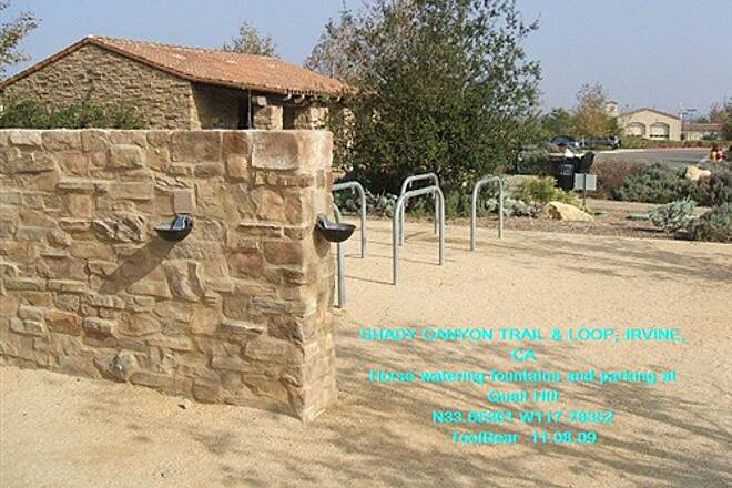Shady Canyon Trail SHADY CANYON TRAIL + LOOP, IRVINE, CA. Horse parking and watering