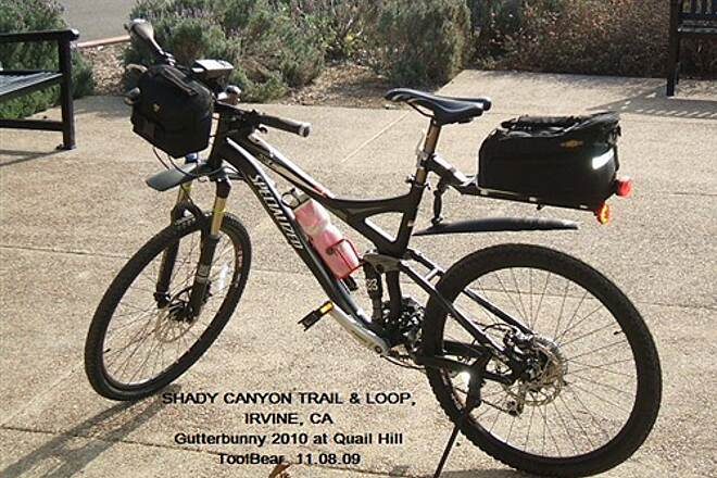 Shady Canyon Trail SHADY CANYON TRAIL + LOOP, IRVINE, CA. The new Gutterbunny 2010, set up for survey.