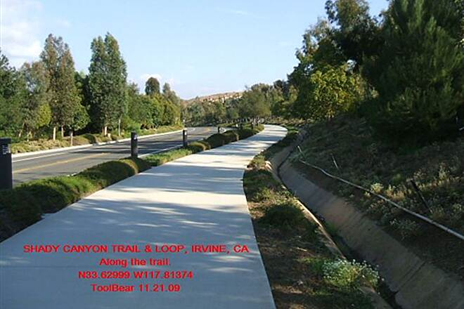 Shady Canyon Trail SHADY CANYON TRAIL + LOOP, IRVINE, CA. This part is bike/walk with bollard lighting.