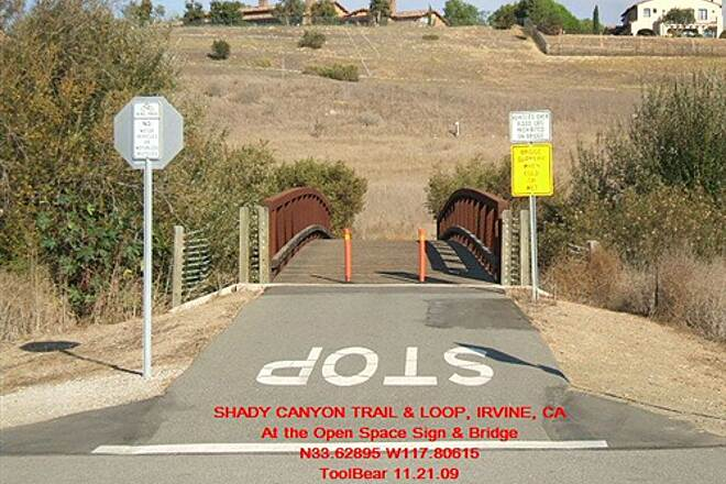 Shady Canyon Trail SHADY CANYON TRAIL + LOOP, IRVINE, CA. Over the bridge and onward.