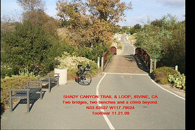 Shady Canyon Trail SHADY CANYON TRAIL + LOOP, IRVINE, CA. Nice spot - water is 271 feet up the trail.