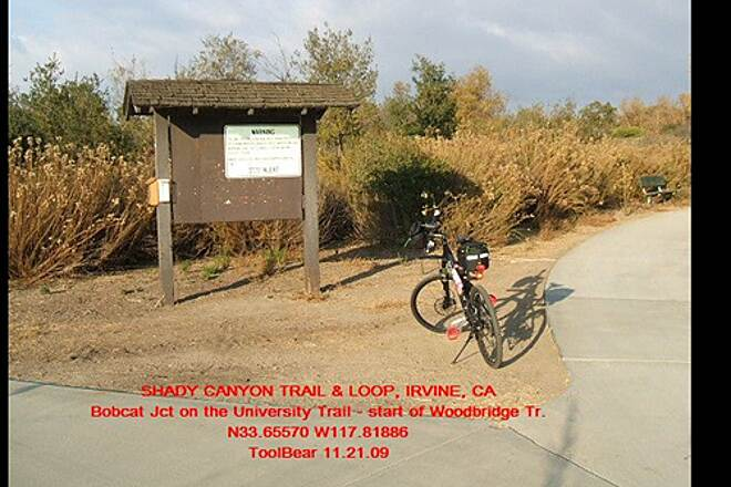 Shady Canyon Trail SHADY CANYON TRAIL + LOOP, IRVINE, CA. Bobcat Jct is the lower end of the Turtle Rock Trail
