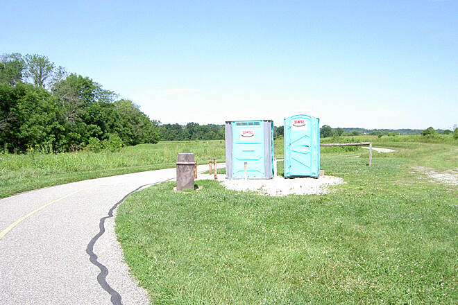 Shaker Trace Trail Outer Loop June 2015 Counterclockwise, portable toilets are located at the midpoint, North end of outer loop