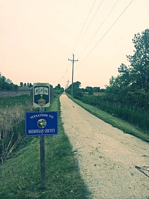 Sheboygan Interurban Trail Trail signage Photo courtesy Sheboygan County Planning and Conservation Department.