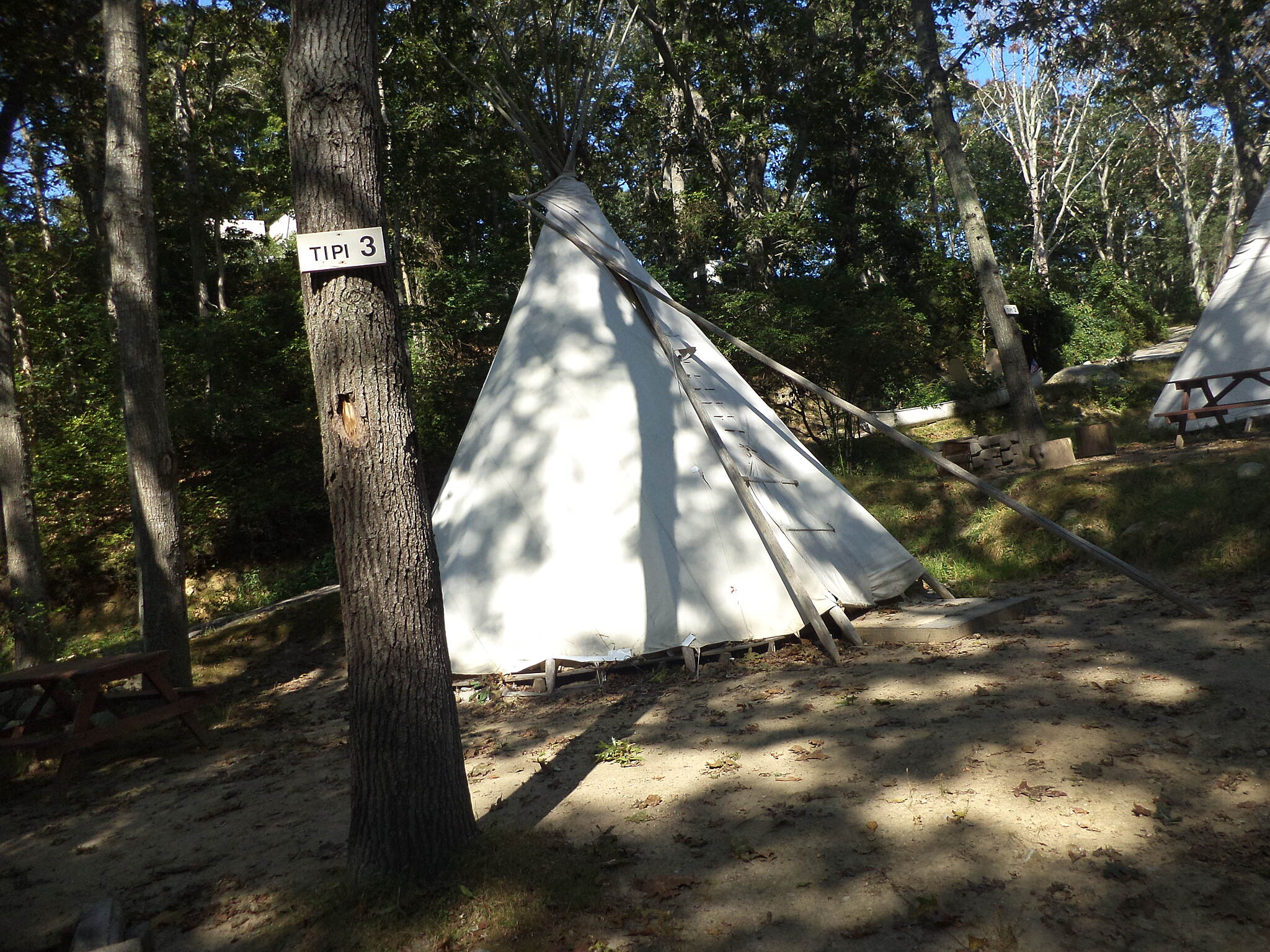 Shining Sea Bikeway Sippewissett Camp Ground Three tipis occupy this camp ground off the Shining Sea Path.