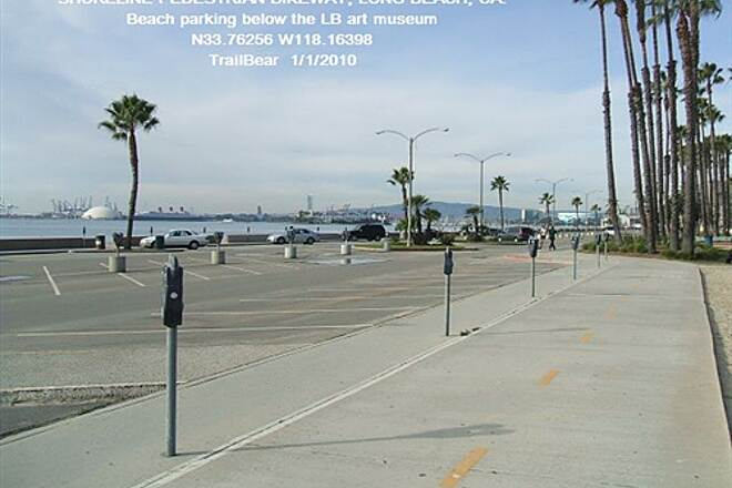 Shoreline Pedestrian/Bicycle Path SHORELINE PEDESTRIAN BIKEWAY - LONG BEACH, CA Nice full service trailhead.  $1/hr to park.