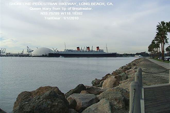 Shoreline Pedestrian/Bicycle Path SHORELINE PEDESTRIAN BIKEWAY - LONG BEACH, CA Gotta have the Queen Mary in at least one shot.