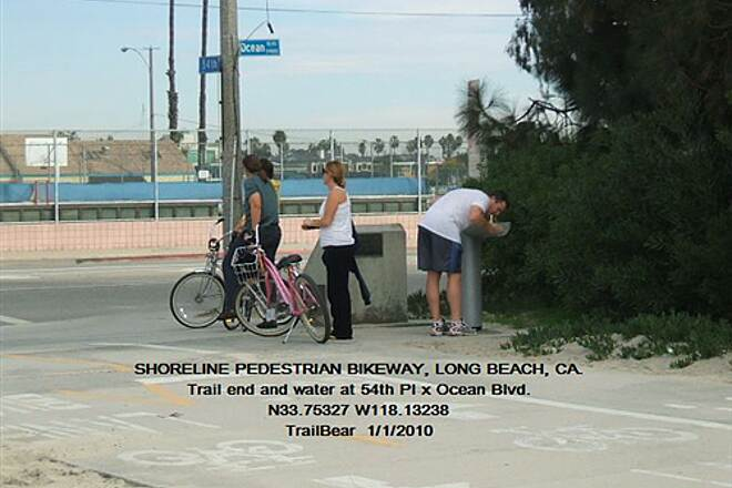 Shoreline Pedestrian/Bicycle Path SHORELINE PEDESTRIAN BIKEWAY - LONG BEACH, CA That's all, folks.  Trail end.