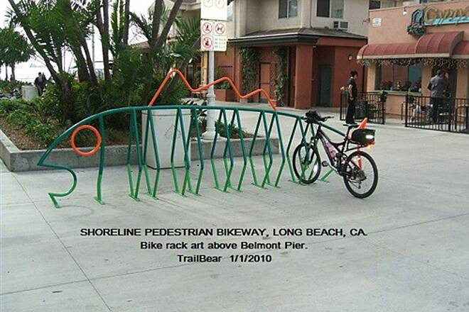 Shoreline Pedestrian/Bicycle Path SHORELINE PEDESTRIAN BIKEWAY - LONG BEACH, CA Park in the fish.