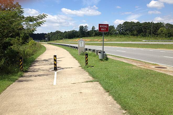 Silver Comet Trail Trail is US287 Sidewalk Just west of Rockville, trail becomes a sidewalk for a few miles.