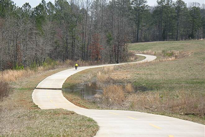 Silver Comet Trail Silver Comet trail rider (just east of Cedartown Ga) Hills and dales