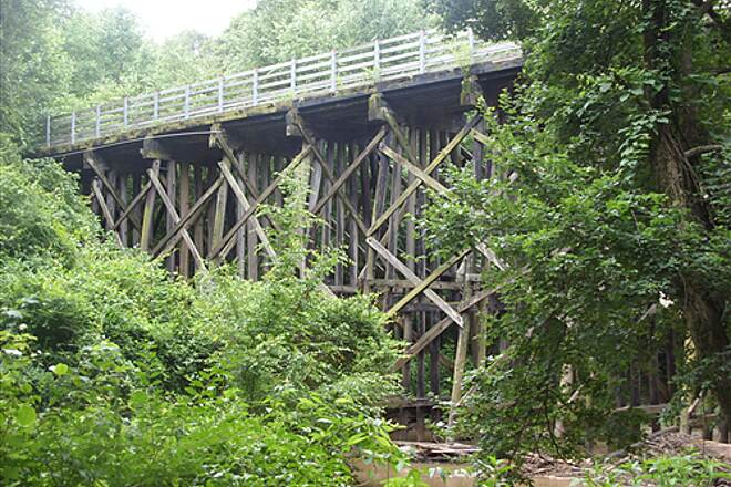 Silver Comet Trail Noses Creek Trestle Trestle over Noses Creek where the Wildhorse Trail connects to the Silver Comet