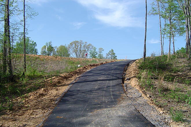Silver Comet Trail Hill Leaving Rockmart Trail is Hillier on four mile section where Rail right of way was not granted