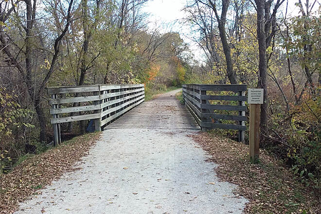 Sippo Valley Trail Eastbound Oct 2016 Crushed stone section between Dalton and Massillon