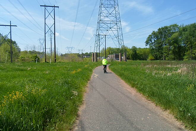 Skippack Trail Skippack Trail Cyclist enjoying the trail on a beautiful, spring day. Taken May 2015.