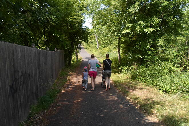 Skippack Trail Skippack Trail Moms and their kids enjoying the trail on a warm, late spring day. Taken May 2015.