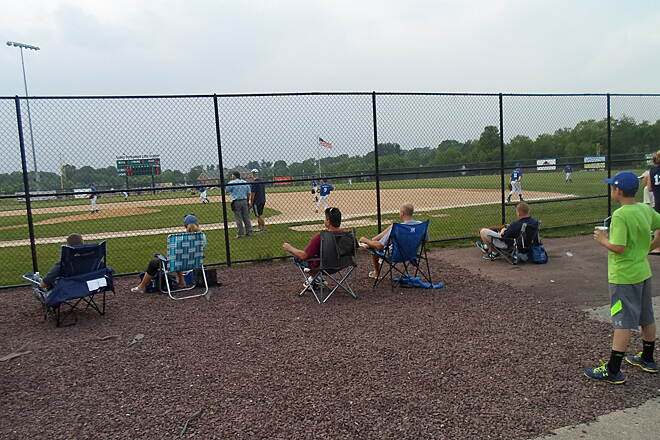 Skippack Trail Skippack Trail One of the sure signs of summer; a little league baseball game was going on in Palmer Park. Taken June 2015.