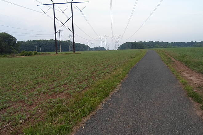 Skippack Trail Skippack Trail East of Collegeville Road, the trail passes through an agricultural area, which is currently (summer 2015) planted in soybeans. This is an island of open space in suburban southeast PA.