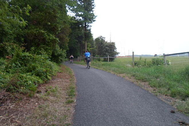 Skippack Trail Skippack Trail Cyclists enjoying the long evenings of early summer. Taken June 2015.