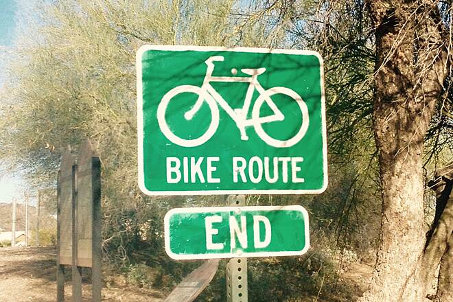 Skunk Creek Trail Trail ends at 51st Ave
