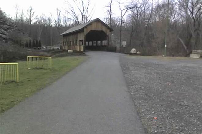 Slate Heritage Trail Covered Bridge and park Along Slate Heritage Trail