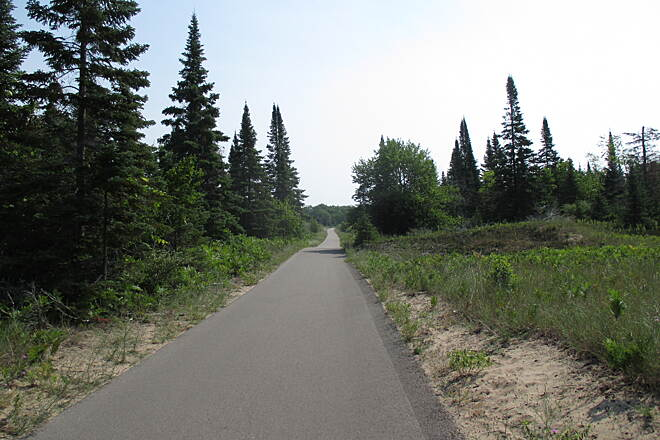 Sleeping Bear Heritage Trail July 2014 Flat and straight rail-trail section of trail between Glen Haven and Dune Climb