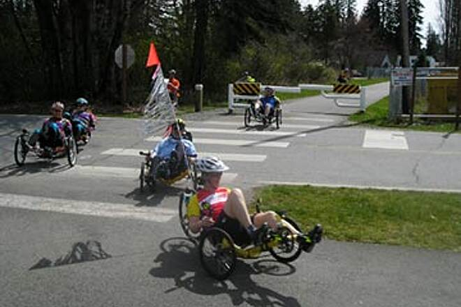 Snohomish County Centennial Trail Recumbent Trikers living the ride! Trikes are the fun way to go.