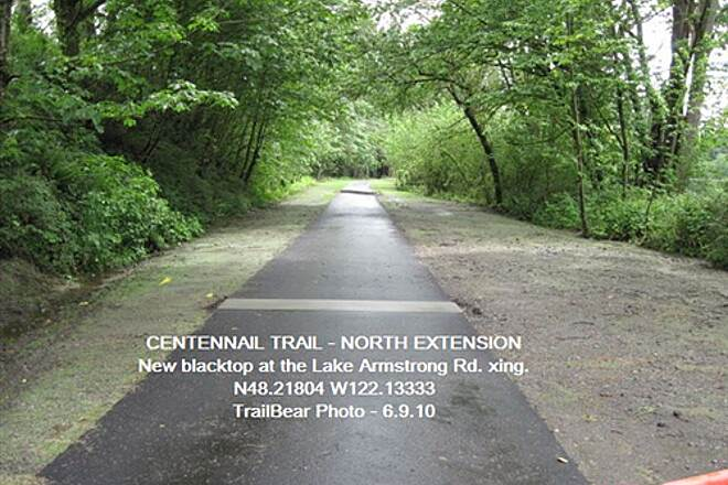 Snohomish County Centennial Trail CENTENNIAL TRAIL - EXTENSION NORTH Pavement is happening on the extension project.