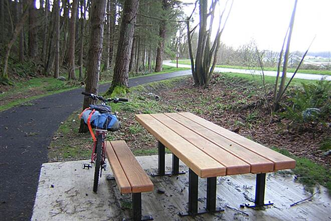 Snohomish County Centennial Trail Centennial Trail north Picnic table