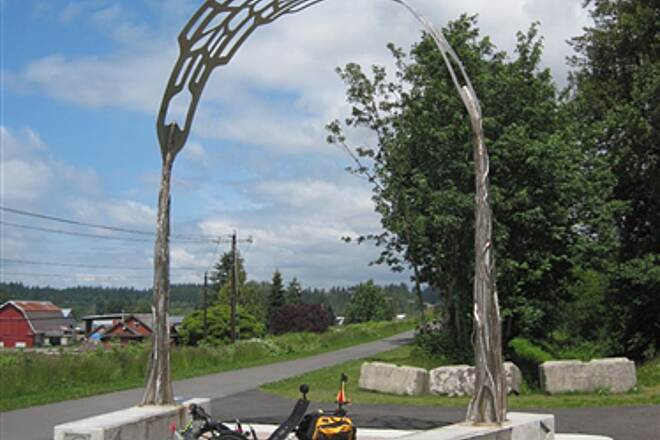 Snohomish County Centennial Trail SNOHOMISH CENTENNITAL TRAIL - NORTH END A new arch and plaza at the Centennial - Whitehorse junction