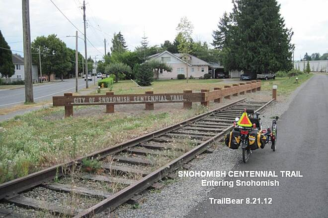 Snohomish County Centennial Trail Start of the Snohomish trail extension