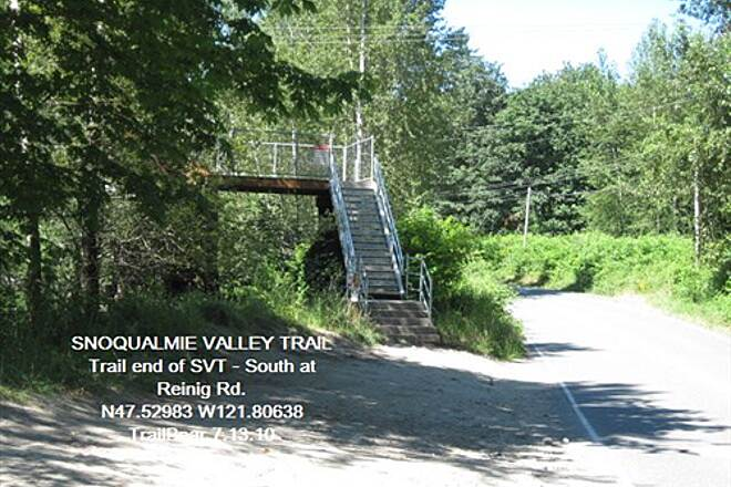 Snoqualmie Valley Trail SNOQUALMIE VALLEY TRAIL SVT: Southern section - N. trail end at Reinig Rd.