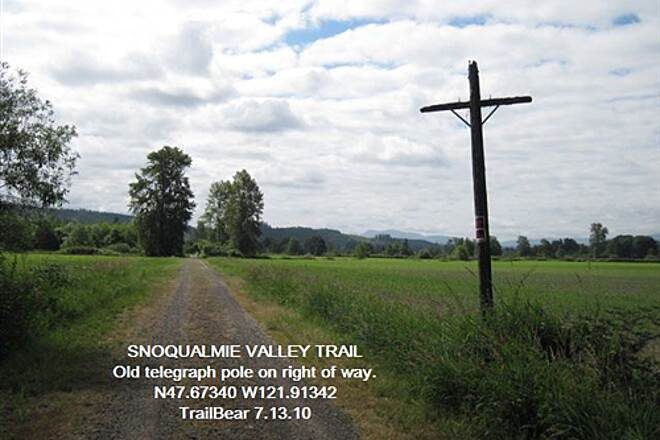 Snoqualmie Valley Trail SNOQUALMIE VALLEY TRAIL - Carnation to Duvall Just an old pole along the right of way