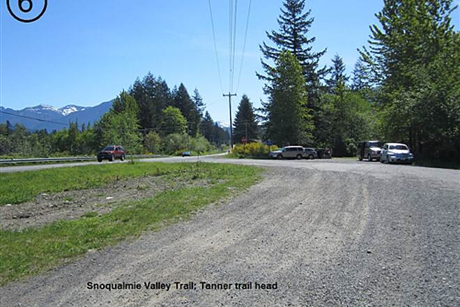 Snoqualmie Valley Trail Snoqualmie Valley Trail, Southeast Segment Access point at North Bend Way and former Tanner saw mill