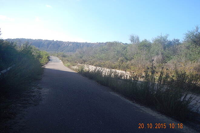 Sorrento Valley Road Trail Old Road Along Penasquitos Creek. 20 Oct 15