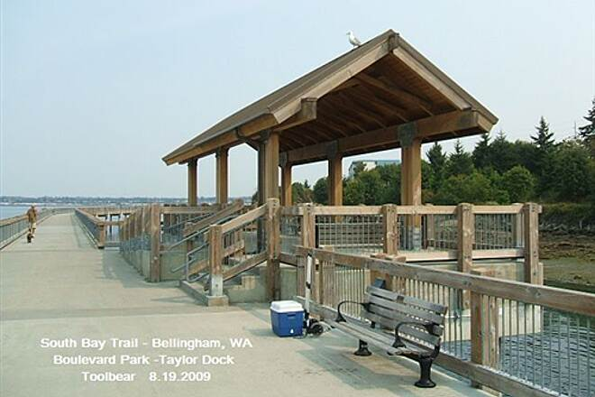 South Bay Trail The South Bay Trail, Bellingham, WA Picnic shelter at Taylor Dock