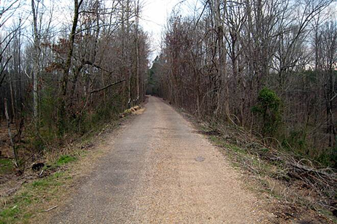 South Campus Rail Trail Oxford Cycling Webmaster  Looking South on the Thacker Mountain Rail- Trail