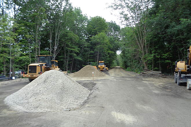 Southern New England Trunkline Trail View east at Central St. View east at Central St., Millville, MA ofthe finish grading work on the SNETT on 7/18/15
