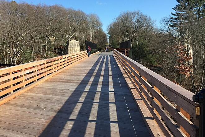 Southern New England Trunkline Trail Triad Bridge This is the Triad Bridge in Nov. 2016 from the West side looking East.
