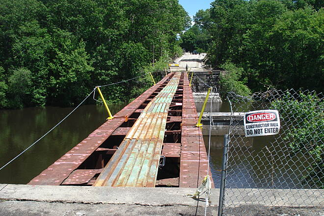 Southern New England Trunkline Trail The first photo's bridge at Factory Pond, Blackstone being rebuilt 6-8-13